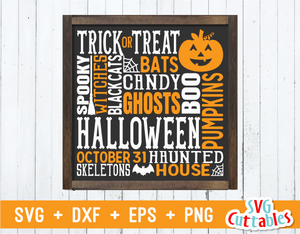 Halloween Subway Art | Halloween SVG Cut File