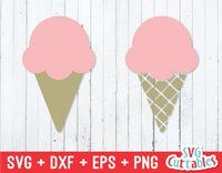 Ice Cream Cone | Summer | SVG Cut File