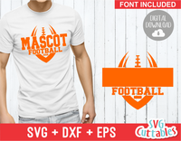 Football Template 0019 | SVG Cut File