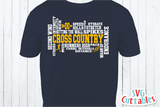 Cross Country Word Art | SVG Cut File