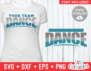 Dance Template 001| SVG Cut File