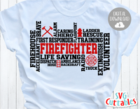Firefighter Word Art | SVG Cut File
