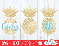 Pineapples | Summer | SVG Cut File