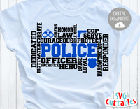 Police Word Art | SVG Cut File