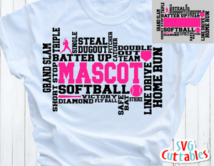 Softball Word Art