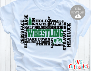 Wrestling Word Art | Cut File