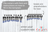Rugby Template 001 | SVG Cut File