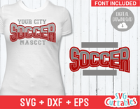 Soccer Template 001 | SVG Cut File