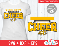 Cheer Template 0020 | SVG Cut File