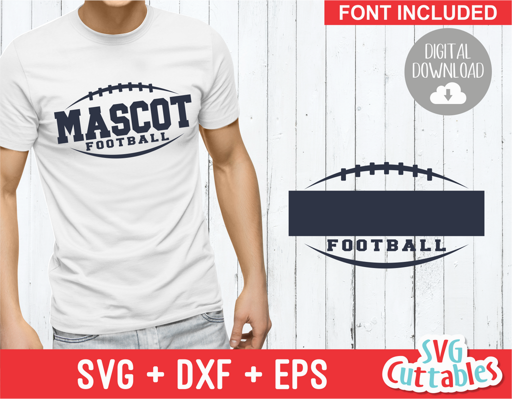 Football Template 0020 | SVG Cut File