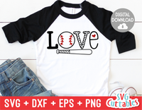 Love Baseball | Softball | SVG Cut File