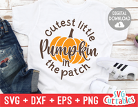 Cutest Little Pumpkin In The Patch | Autumn | Fall Cut File