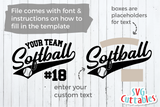 Softball Team Template 0021