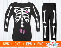 Pregnant Skeleton | Cut File