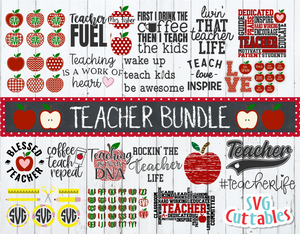 Teacher Bundle SVG Cut File