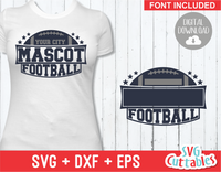Football Template 0025 | SVG Cut File