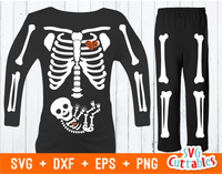 Pregnant Skeleton | SVG Cut File