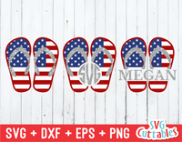 Flag Flip Flops | 4th of July | SVG Cut File