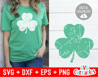 Grunge Shamrock | St. Patrick's Day Cut File