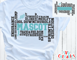 Track and Field Word Art