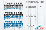 Cross Country Template 002 | SVG Cut File