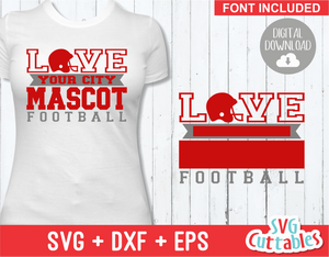 Football Template 0032 | SVG Cut File