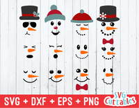 Snowman Faces | Cut File