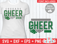Cheer Template 0034 | SVG Cut File
