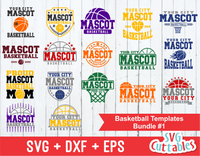 Basketball svg Template Bundle #1