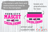 Cheer Template 0035 | SVG Cut File