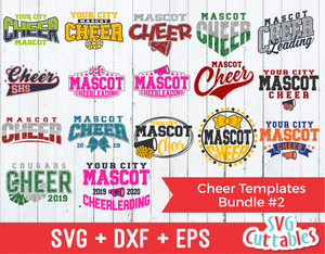 Cheer Template Bundle 2 | SVG Cut File