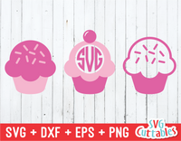 Set of 3 Cupcakes  | SVG Cut File