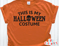 This is My Halloween Costume | SVG Cut File