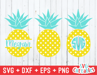 Polka Dot Pineapples | Summer | SVG Cut File
