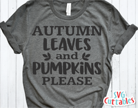 Autumn Leaves and Pumpkins Please | Autumn | Fall Cut File