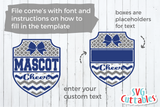 Cheer svg Template 004, svg cut file