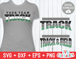 Track and Field Template 004 | SVG Cut File