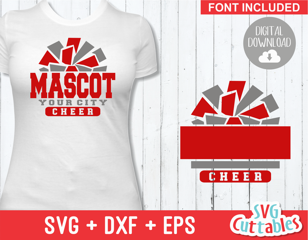 Cheer svg Template 005, svg cut file