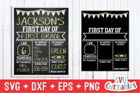 First Day of School Flags SVG Cut File