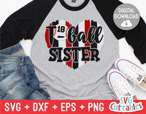 T-Ball Sister Heart | SVG