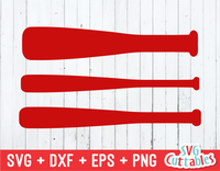 Baseball Bats svg cut file