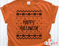 Happy Halloween Sweater Design | SVG Cut File