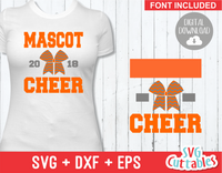 Cheer svg Template 007, svg cut file