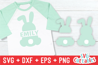 Easter Bunny Split SVG Cut File