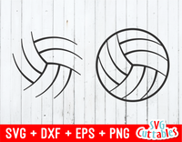 Volleyball Ball Skeletons set of 2