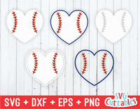 Baseball / Softball Heart SVG