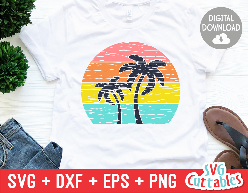 Tropical Sunset | Summer | SVG Cut File