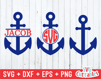 Anchor Set | Summer | SVG Cut File