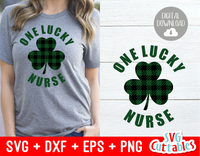 One Lucky Nurse | St. Patrick's Day Cut File
