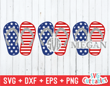 Fourth of July Flip Flops | SVG Cut File